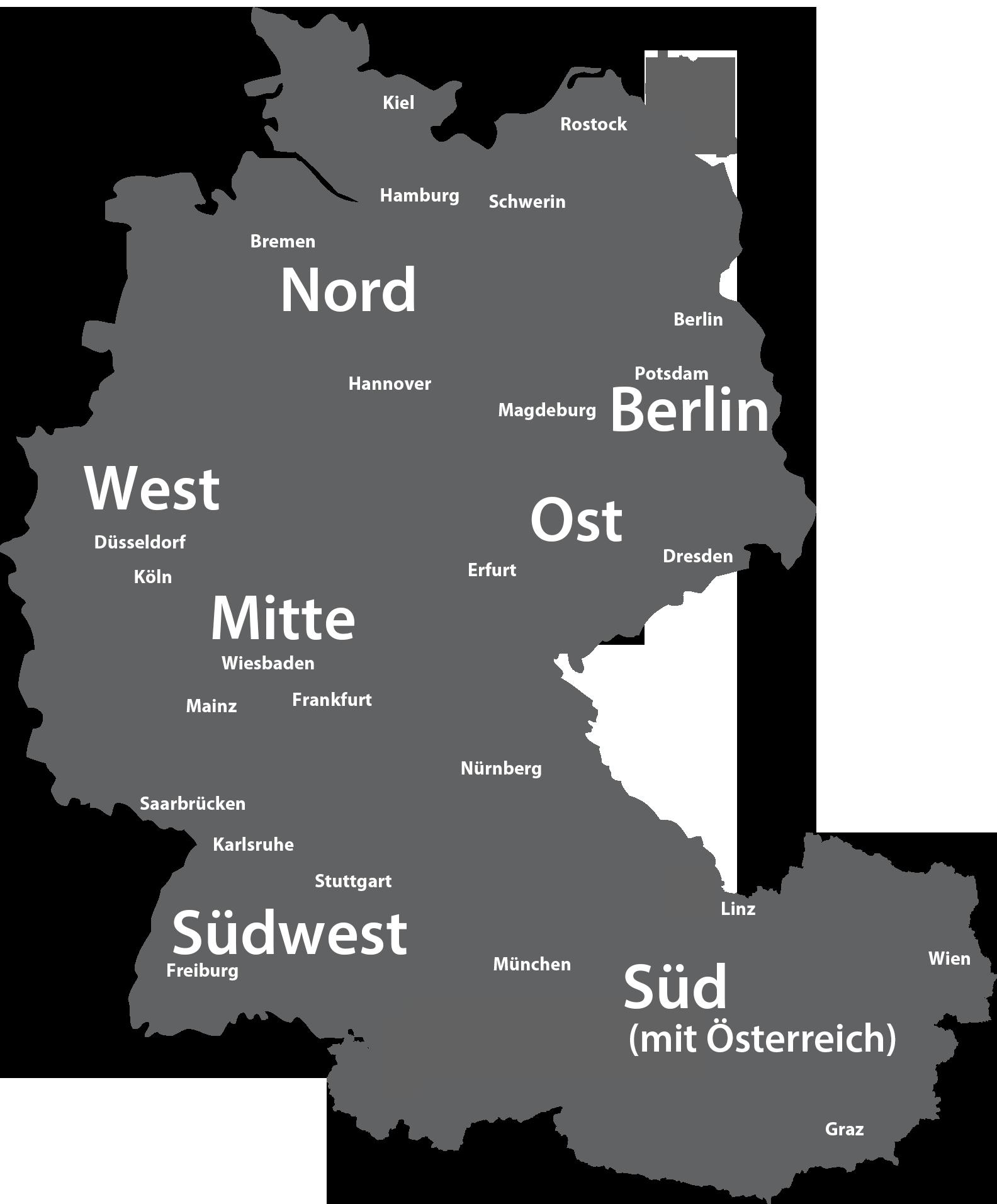karte deutschsprachige region