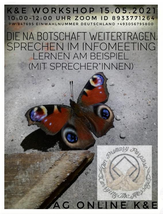 """KuE Workshop - Sprechen im Infomeeting """"Die NA-Botschaft weitertragen"""""""
